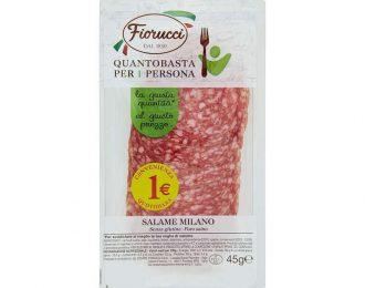 Salame a Fette Confezionato Fiorucci Vaschetta da 45 Grammi