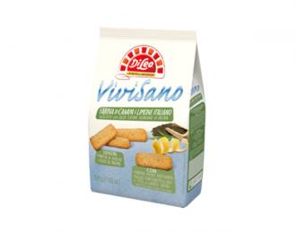 Biscotti Vivisano Di Leo con farina di canapa e limone Italiano 500 Grammi