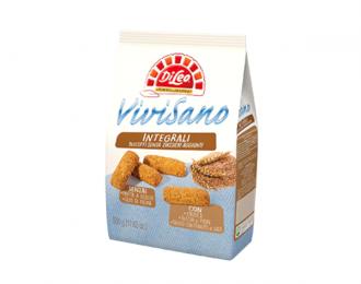 Biscotti Integrali Vivisano Di Leo senza Zuccheri Aggiunti 500 Grammi