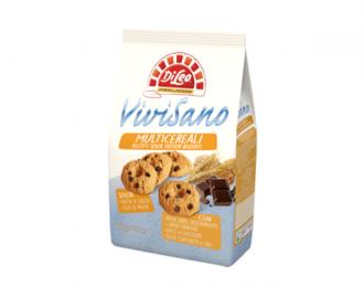 Biscotti Vivisano Di Leo Multicereali e Gocce di cioccolato senza zuccheri aggiunti 500 Grammi