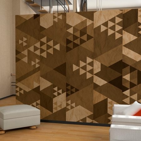 Fotomurale - Patchwork marrone-1