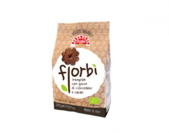 Biscotti Integrali Fiorbì Di Leo Gocce di Cioccolato e Cacao 280 Grammi
