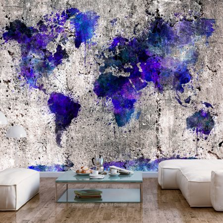 Fotomurale - World Map: Ink Blots-1
