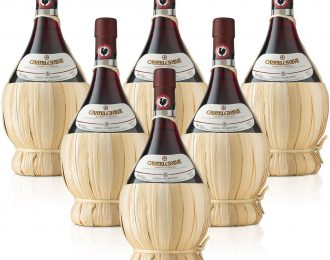 Vino Rosso Chianti Classico DOCG Castelgreve fiasco 1 litro Conf. da 6 Bottiglia/e