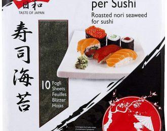 Alghe Nori per Sushi Biyori 10 Fogli di Alghe  Ideale per Preparazione Sushi