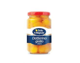 Pelati Sole e Napule Datterino Giallo Vetro 360 Grammi