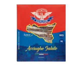 Acciughe Salate Sicilia Sottovuoto EXCELSIOR 100 Grammi